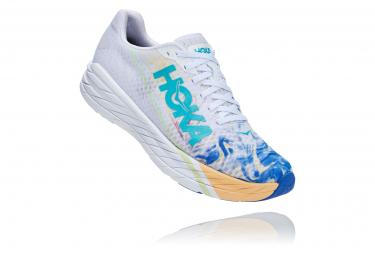 Chaussures de Running Hoka One One Rocket X Farther Pack Blanc / Bleu