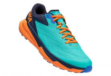 Trail Shoes Hoka Zinal Green Orange Man
