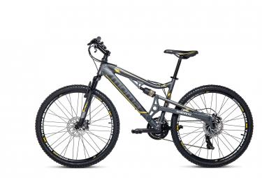 Moma Bikes Bicicleta Montaña EQX 26'Alu, SHIMANO 24V, Doble Freno Disco, Doble Susp. (Varias Tallas)