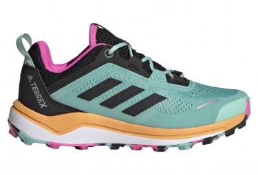 Adidas Terrex Agravic Flow Kinder Trail Schuhe Grün / Rosa
