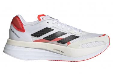 Chaussures de Running Femme adidas running adizero Boston 10 Blanc / Rouge