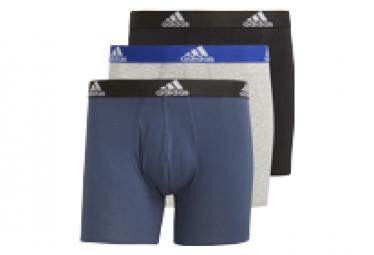 Boxers x3 adidas Bos Brief Gris/Bleu/Noir