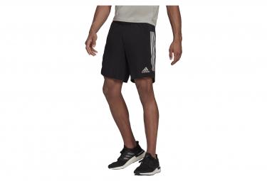 Adidas Own The Run 3-Streifen Shorts Schwarz