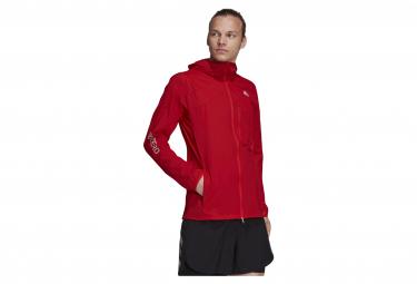 Veste Imperméable adidas Adiezro Marathon Rouge