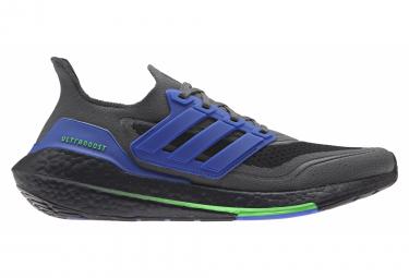Adidas UltraBoost 21 Laufschuhe Schwarz Blau Grün