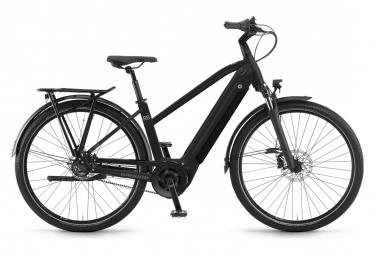 Bicicleta eléctrica de ciudad para mujer Winora Sinus R8f Shimano Nexus 8 V, 625 Wh, 650b, negro, 2021