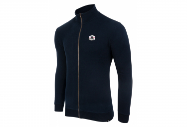 Sweatshirt LeBram Ecusson Zippé Bleu Foncé