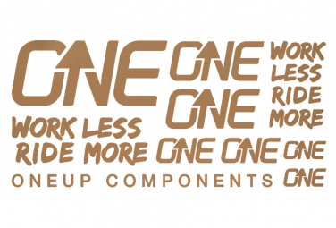 Oneup Matte Bronze Stickers Kit