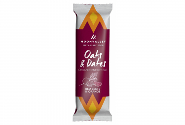 Barre Énergétique Moonvalley Oats & Dates Organic Energy Bar Betterave Rouge Orange 50 g