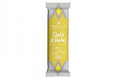 Barre Énergétique Moonvalley Oats & Dates Organic Energy Bar Citron Gingembre 50 g