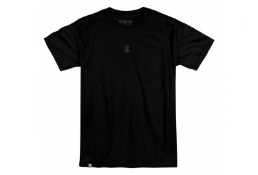 T-Shirt Manches Courtes Subrosa Rose Embroidered Noir
