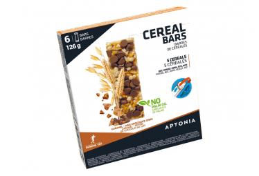 Barre énergétique Aptonia Cereal Bars Chocolat Caramel 6x21g
