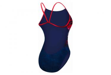 Maillot de Bain 1 Pièce Tyr Liberty Cutoutfit Bleu / Rouge