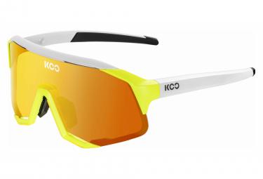 KOO Demos Energy Limited Edition Brille Neon Gelb Weiß / Orange