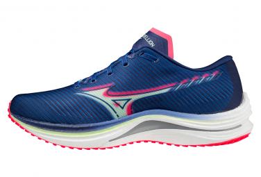 Chaussures de Running Mizuno Wave Rebellion Bleu / Rose