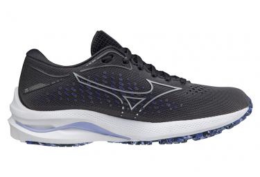 Chaussures de Running Femme Mizuno Wave Rider 25 Noir / Bleu