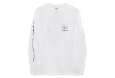 Vans x Spongebob Mike Gigliotti Skull Long Sleeve T-Shirt White