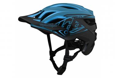 Troy Lee Designs A3 Mips Uno Cyan / Blauer Helm