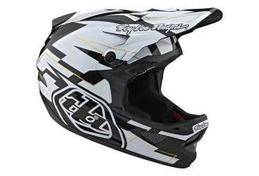 Troy Lee Designs D3 Fiberlite Vertigo Helmet Black / White