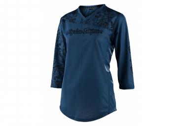 Maglia manica 3/4 donna Troy Lee Designs Mischief Floral blu