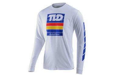 T-Shirt Manches Longues Troy Lee Designs Pregame Blanc