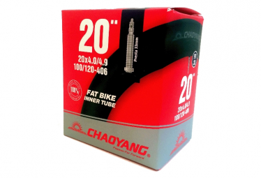 CHAMBRE 20 4,0-4.9 FAT BIKE VALVE PRESTA 33MM CHAOYANG.