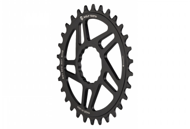 Wolf Tooth Direct Mount Chainring for Race Face Cinch Boost 3 mm Drop-Stop ST for Shimano HyperGlide+ 12S Black