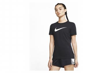 Maillot Manches Courtes Femme Nike Dri-Fit Training Noir