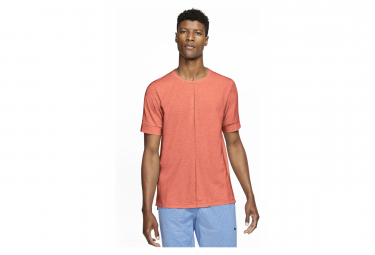 Maillot Manches Courtes Nike Dri-Fit Yoga Orange