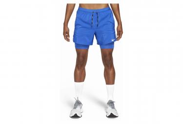 Short 2-en-1 Nike Flex Stride 5'' Bleu