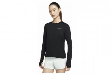 Maillot Manches Longues Femme Nike Dri-Fit Element Noir