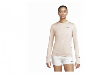 Maillot Manches Longues Femme Nike Dri-Fit Element Corail