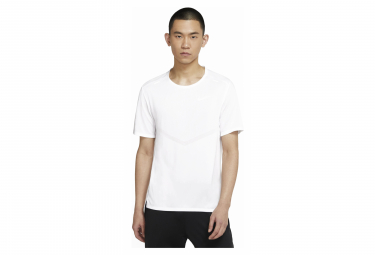 Maillot Manches Courtes Nike Dri-Fit Rise 365 Blanc