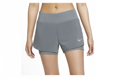 Short 2-en-1 Nike Eclipse Gris Femme