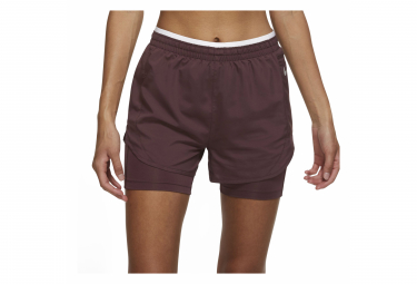 Short Nike Tempo Luxe Rouge Femme
