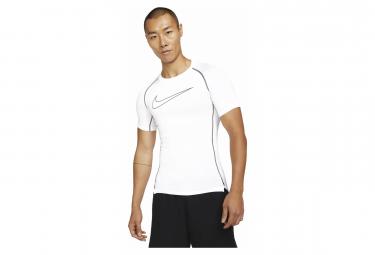 Maillot Manches Courtes Nike Pro Dri-Fit Blanc