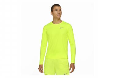 Maillot Manches Longues Nike Dri-Fit Miler Jaune