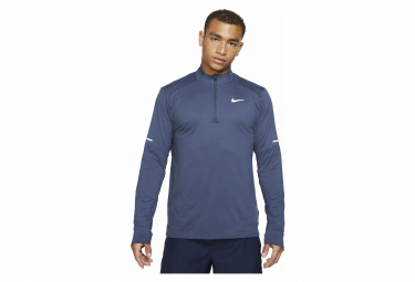 Maillot Manches Longues 1/2 zip Nike Dri-Fit Element Bleu