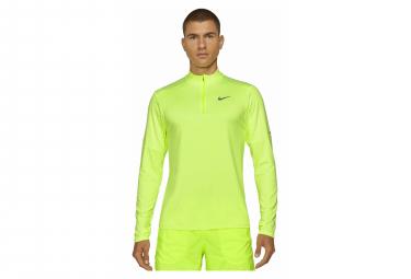 Maillot Manches Longues 1/2 zip Nike Dri-Fit Element Jaune