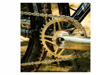 Wolf Tooth Direct Mount Chainring for Cane Creek/Sram Boost 3 mm Drop-Stop ST for Shimano HyperGlide+ 12S Nickel
