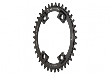 Wolf Tooth 104 BCD Asymmetric 4-Bolt Shimano Chainring Drop-Stop B Black