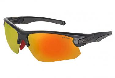 Occhiali da sole Demetz Pulsa 2 Nero opaco / Arancione