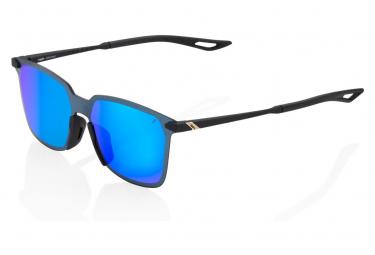 100% Legere Square Soft Tact Nero/Bleu Mirror