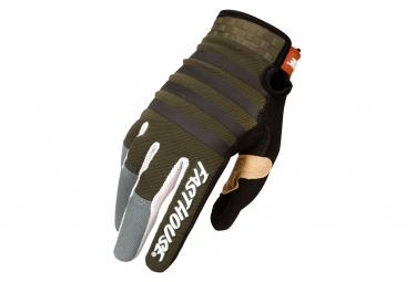 Fasthouse Speed Style Striper Handschuh Lange Handschuhe Oliv / Grau