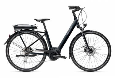 Bicicleta de ciudad eléctrica Peugeot eC01 D9 Active Shimano Alivio 9 V, 400Wh, negro, 2021