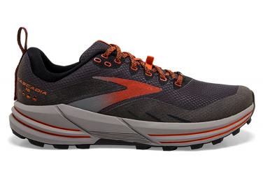 Brooks Cascadia 16 GTX Trail Shoes Black Red Mens