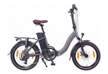 NCM Paris 20'' Gris Anthracite, Vélo Electrique Pliant - Shimano - Moteur 250W, Batterie 540Wh / 155cm- 190cm
