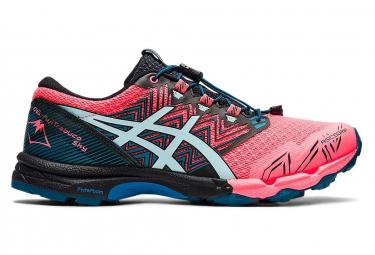 Asics FujiTrabuco Sky rosa blu scarpe da trail donna