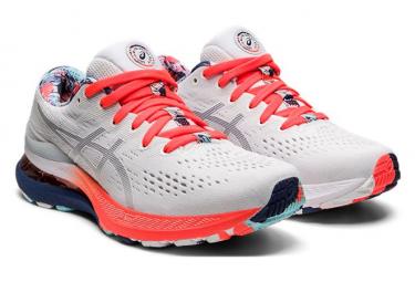 Chaussures de Running Femme Asics Gel Kayano 28 Blanc / Bleu