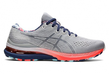 Asics Gel Kayano 28 grigio blu rosso scarpe da corsa